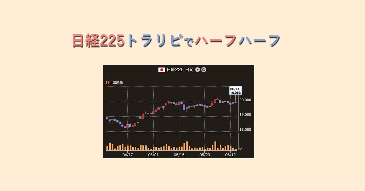 【成績公開中】日経225トラリピにハーフ&ハーフで挑戦(資金55万)