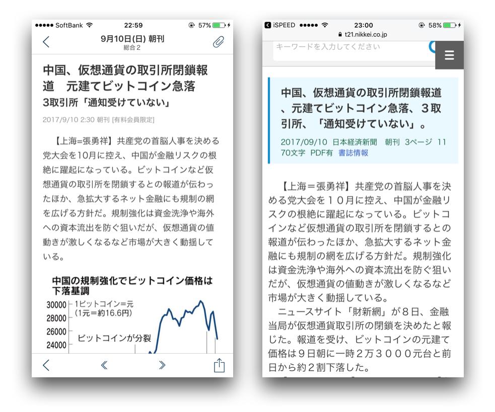 日経新聞と日本テレコンの比較2