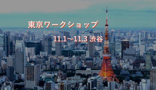 【告知】東京ワークショップ。3日の15時〜17時にもたぱぞうさんが!