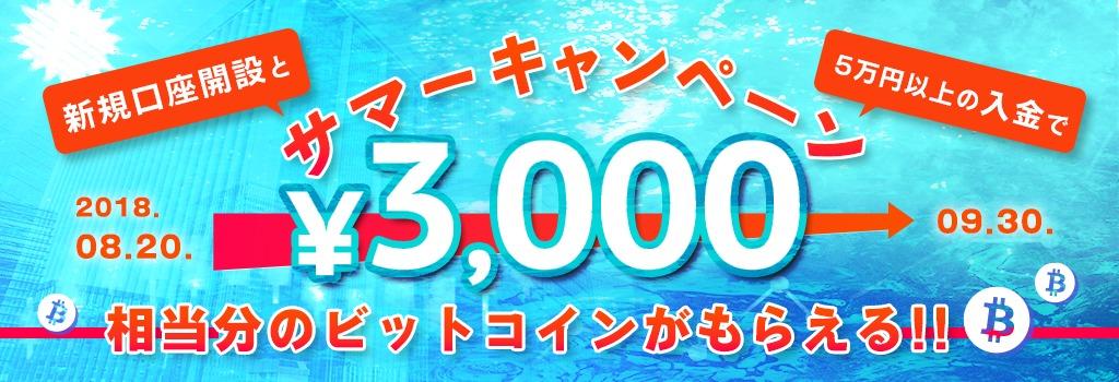 3,000円キャンペーン