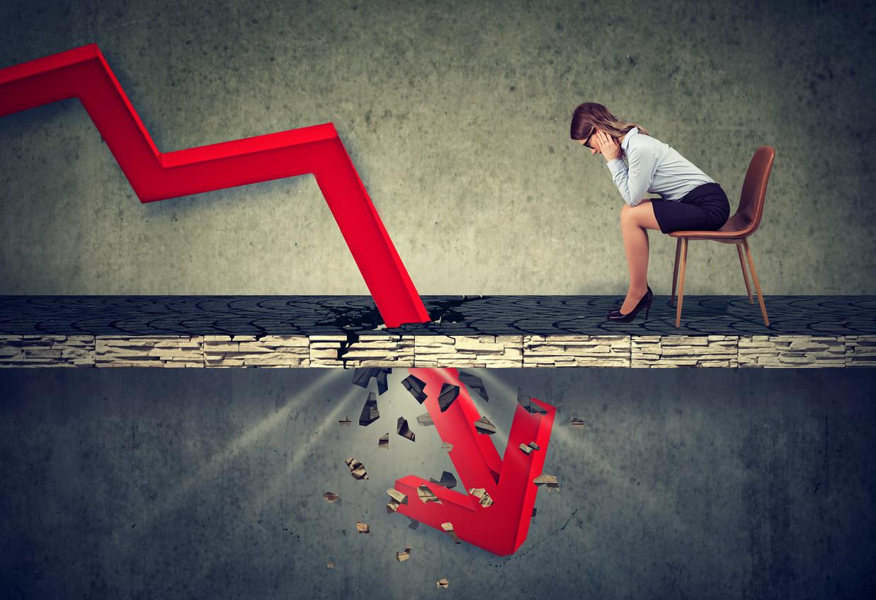 価格下落による含み損増大