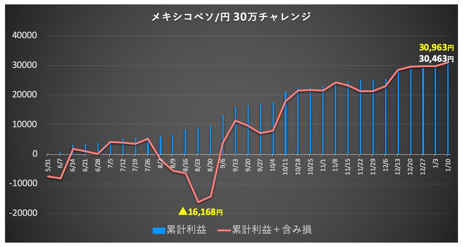 口座推移グラフ