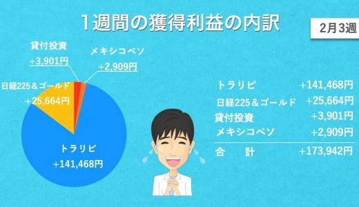 【2月3週目】あっきんの資産運用実績をブログで公開!投資をすると4000万円はどれだけ増える?