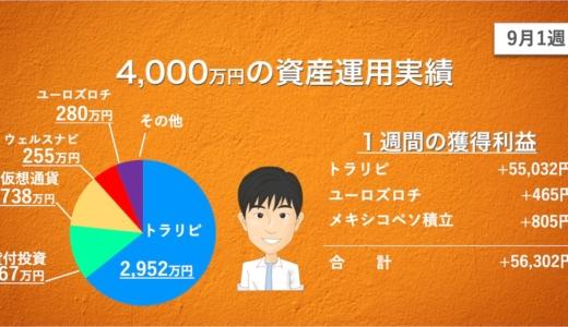 【9月1週目】あっきんの資産運用実績をブログで公開!投資をすると4000万円はどれだけ増える?