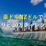 【運用前】トラリピ史上最強通貨の豪ドルNZドルで30万チャレンジ!実績と設定をブログで公開!