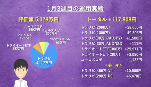 【週次報告】1月3週目は+117,808円でした。あっきんの資産運用実績をブログで公開!