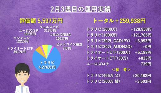【週次報告】2月3週目は+259,938円でした。あっきんの資産運用実績をブログで公開!