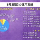 【週次報告】6月3週目は+176,451円でした。あっきんの資産運用実績をブログで公開!