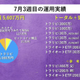 【週次報告】7月3週目は+91,320円でした。あっきんの資産運用実績をブログで公開!
