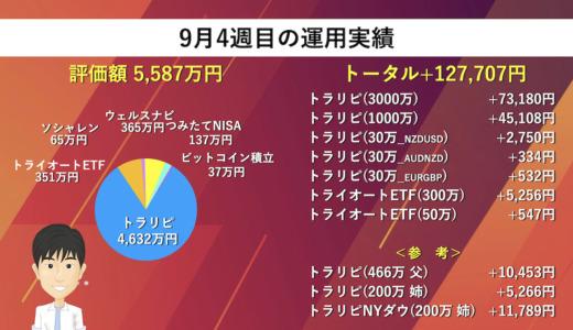 【週次報告】9月4週目は+127,707円でした。あっきんの資産運用実績をブログで公開!